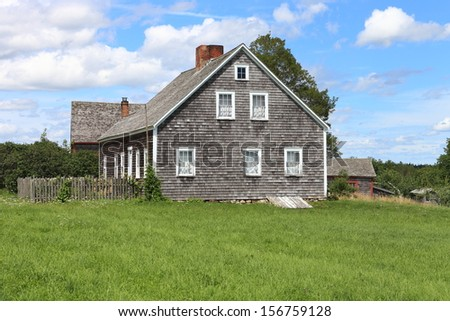 An historic east coast farmhouse - stock photo