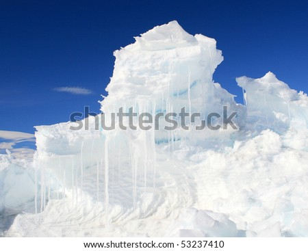 An ice hummock - stock photo