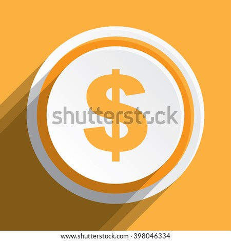 An Icon Illustration Isolated on a Background - Dollar Sign