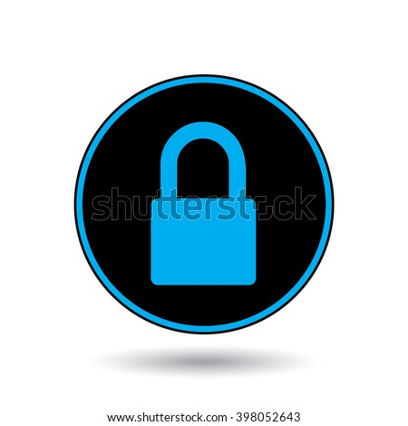 An Icon Illustration Isolated on a Background - Padlock