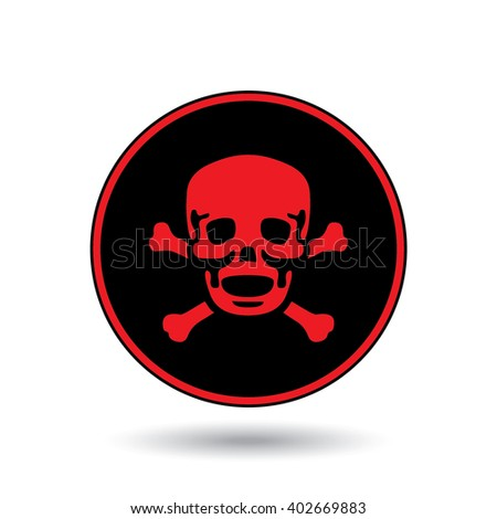 An Icon Illustration Isolated on a Background - Skull and Cross Bones
