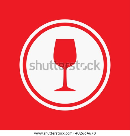 An Icon Illustration Isolated on a Background - Wine Glass - stock photo