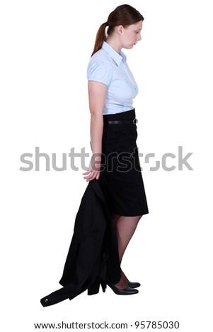 An idle businesswoman. - stock photo
