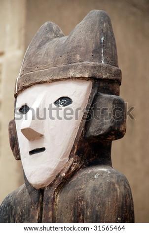 An Idol at Chan Chan, Peru - stock photo