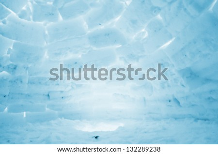 An igloo interior background image - stock photo