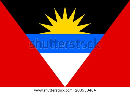 An Illustrated Drawing of the flag of Antigua and Barbuda - stock photo