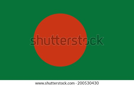An Illustrated Drawing of the flag of Bangladesh - stock photo