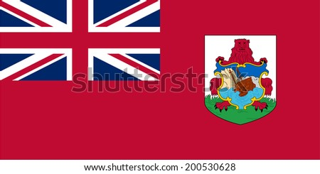 An Illustrated Drawing of the flag of Bermuda - stock photo