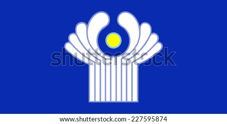 An Illustrated Drawing of the flag of Commonwealth of Independent States - stock photo