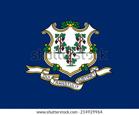 An Illustrated Drawing of the flag of Connecticut state (USA)  - stock photo