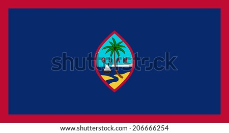 An Illustrated Drawing of the flag of Guam - stock photo