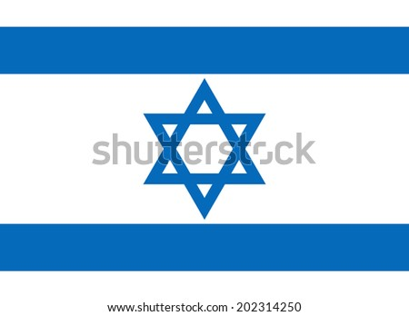 An Illustrated Drawing of the flag of Israel