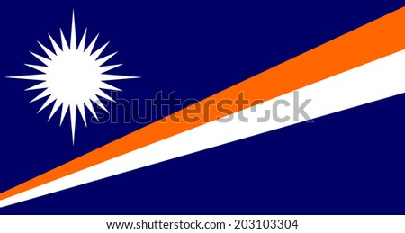 An Illustrated Drawing of the flag of Marshall Islands  - stock photo