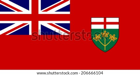 An Illustrated Drawing of the flag of Ontario  - stock photo