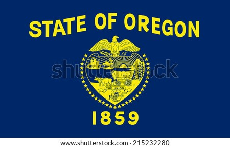 An Illustrated Drawing of the flag of Oregon state (USA) - stock photo