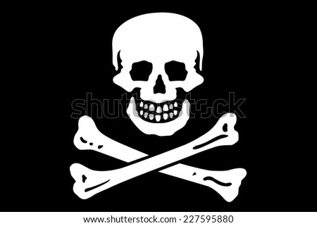 An Illustrated Drawing of the flag of Pirate