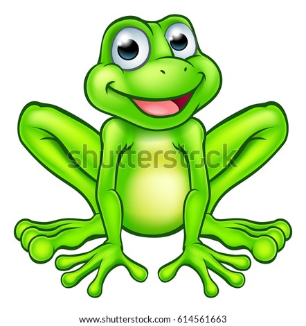 Superieur An Illustration Of A Cute Cartoon Frog Mascot Character