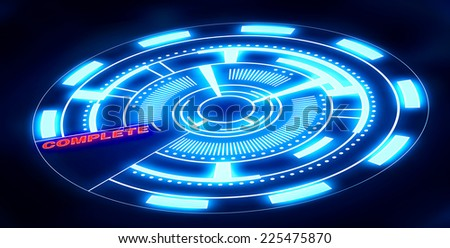 An illustration of a digital interface - stock photo