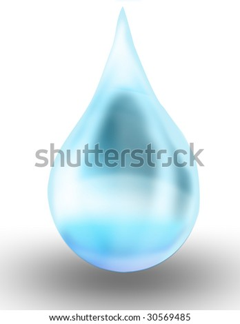 an illustration of a drop of water