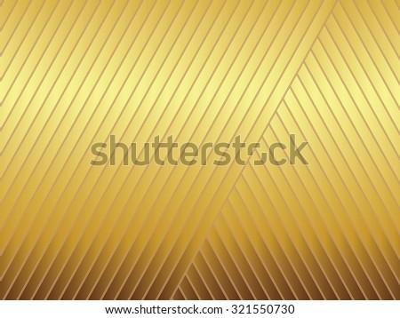 An illustration of golden diagonal stripe pattern - stock photo