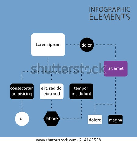 An Illustration of Modern infographic chart - stock photo