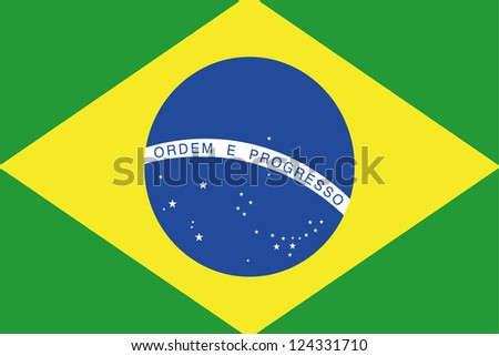 An illustration of the flag of Brazil - stock photo