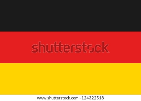 An illustration of the flag of Germany - stock photo