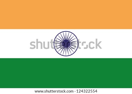 An illustration of the flag of India - stock photo