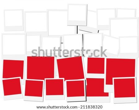 An illustration of the flag of Poland, photo frame  - stock photo