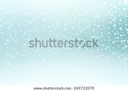 An illustration of the water bubbles background.  - stock photo