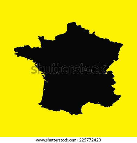 An Illustration on an Yellow background of France