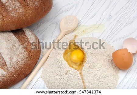 An image illustrating baking of the bread