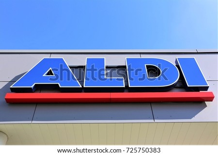 Image Aldi Supermarket Logo Luegde Germany 10012017 Stock Photo 100