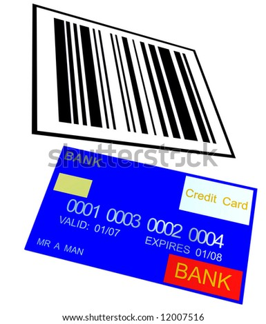An image of a barcode and a credit card it would be a good image for retail concepts.
