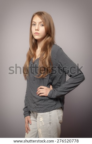 An image of a beautiful teenage girl - stock photo