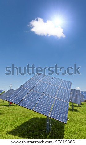 An image of a big solar plant - stock photo
