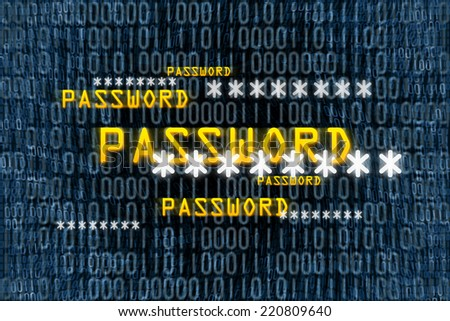 An image of a binary password background - stock photo