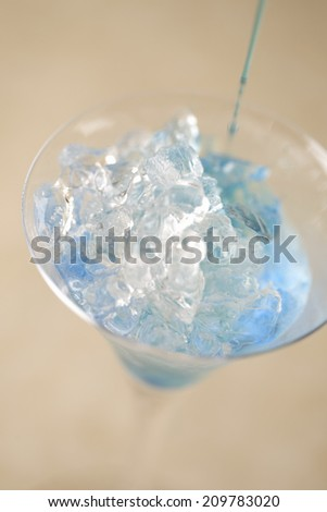 An Image of A Blue Cocktail