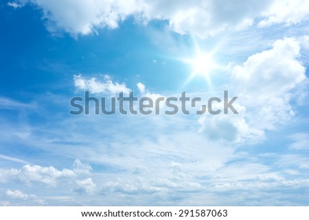 An image of a bright blue sky background