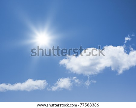 An image of a bright sun background - stock photo