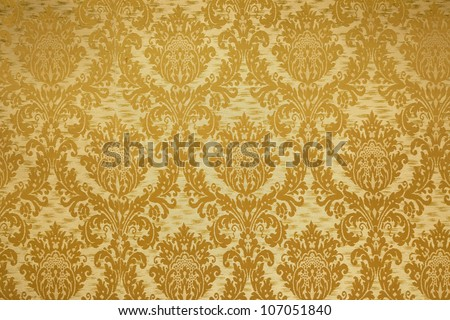 An image of a bright vintage wallpaper background - stock photo