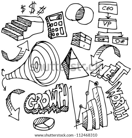 An image of a business chart drawing set. - stock photo