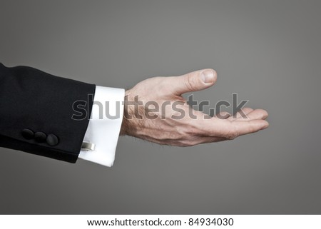 An image of a business mans hand - stock photo
