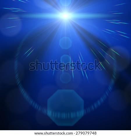 An image of a decorative lens flare background - stock photo