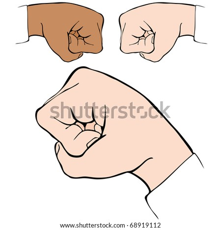 An image of a fist bump handshake.