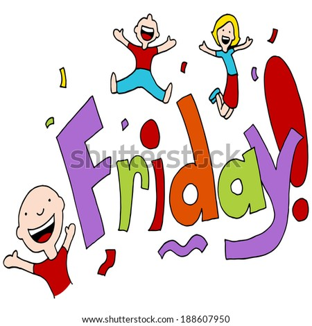 An image of a Friday celebration. - stock photo