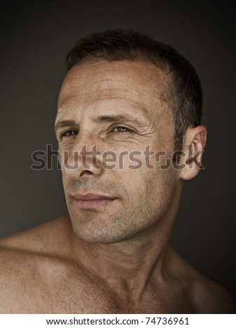 An image of a handsome man portrait - stock photo