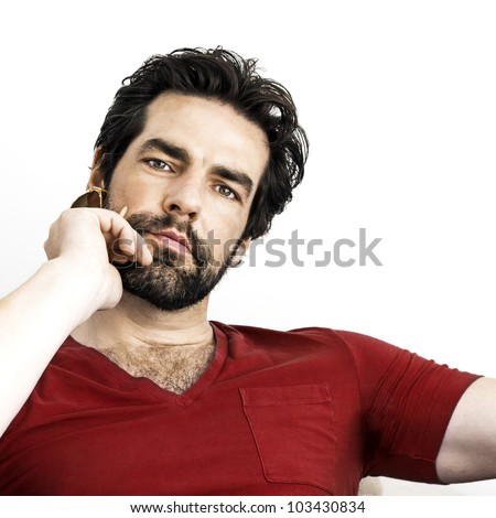 An image of a handsome man with a beard