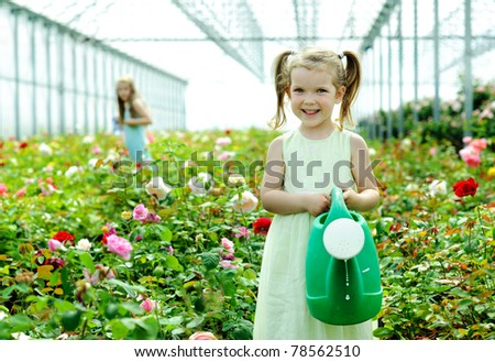 An image of a little girl in a rosary - stock photo