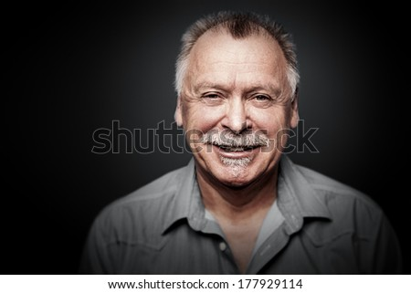 An image of a man with a moustache - stock photo